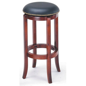 Excellent 24 In Backless Swivel Bar Stool With Nailhead Trim Cjindustries Chair Design For Home Cjindustriesco