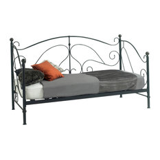 Milano Day Bed, Black, Without Trundle