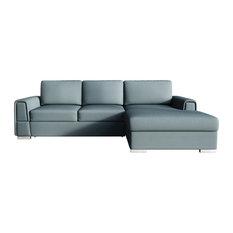 LOGAN Sectional Sleeper Sofa, Sage, Right