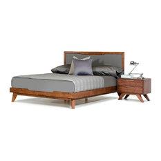 Nova Domus Soria Gray and Walnut Bed, Eastern King