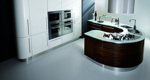 10 fiamberti italian curved rounded kitchen cabinets