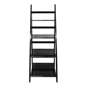 Scott Ladder 4-Tier Display Shelf, Black