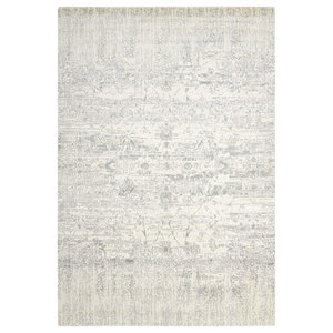 Nourison Twilight Ivory and Grey Rug, 168x244 cm