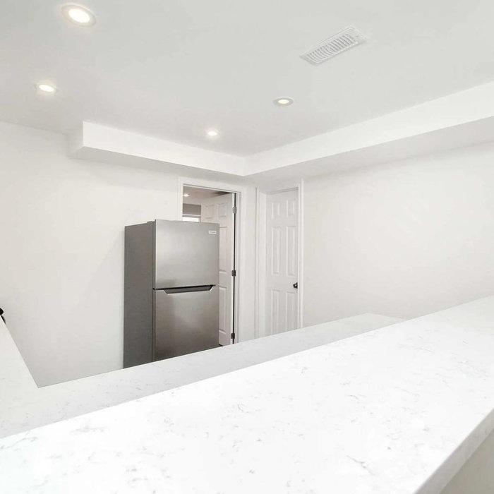 White Kitchen and Bathroom