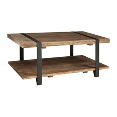 Modesto Solid Reclaimed Wood Coffee Table, Rustic Natural, 42""