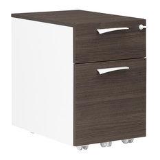 Xenon 2-Drawer Filing Cabinet With Castors, Royal Oak Finish