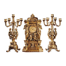 Chateau Chambord Clock and Candelabra Set