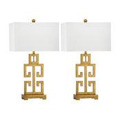 "Safavieh Greek Key Table Lamps, 29"" High, Set of 2"