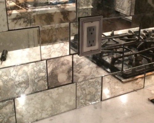Antique Mirror Subway Tiles