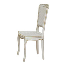 Beech Wood Dining Chairs, Cane, Set of 2