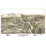 "Ted's Vintage Art - Old Map of Johnsonburg Pennsylvania 1895, Vintage Map Art Print, 24""x36"" - Old Map of Johnsonburg, Pennsylvania - 1895"
