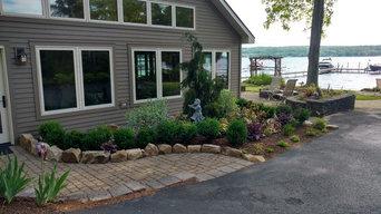 Front paver walkway & entrance landing