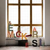 Lettres décoratives lumineuses en métal
