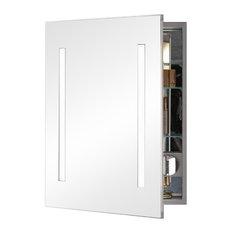 "Robern AC2430D4P1L AiO 24""x30""x4"" Single Door Medicine Cabinet, Mirrored"