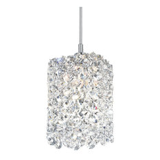 "Refrax 1-Light 4""W Pendant, Clear Crystals Swarovski"