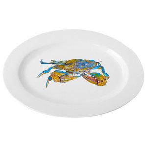 horseshoe crab Blue horseshoe crab square ceramic serving platter