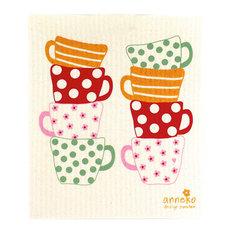 Swedish Dishcloths, Tea Cups, Pack of 5