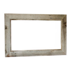 50 most popular rustic mirrors for 2018 houzz mybarnwoodframes decor inc western rustic mirror reclaimed barn wood 202 frame 24x30 thecheapjerseys Image collections