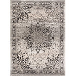 """Well Woven - Well Woven Amba Sultana Traditional Vintage Grey Area Rug 3'11"""" x 5'7"""" AM-68 - Amba is sleek and sheik with soft, neutral tones of grey, ivory, and beige complemented by bright colors of red, blue, and yellow. Intricately shaded designs give these rugs a faded, vintage feel. Patterns range from abstract geometric to traditional Oriental but all have a distinctly modern look. A 0.4 inches pile of heat set polypropylene is soft, plush, stain resistant, and does not shed or fade over time. Beautiful and easy to clean, Amba is perfectly suited for a trendy decor and busy lifestyle"""
