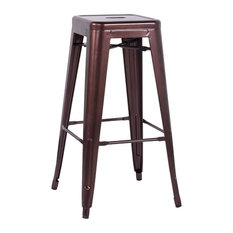 Chintaly Imports - Chintaly Galvanized Steel Bar Stools Red Copper Set of 4 -  sc 1 st  Houzz & Galvanized Bar Stools u0026 Counter Stools | Houzz islam-shia.org