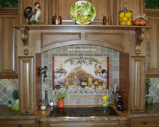 Kitchen Backsplash Medallions kitchen backsplash murals, mosaic medallions and accent tiles