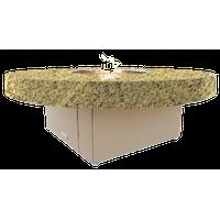 Circular Fire Pit Table, 48 D, Natural Gas, Santa Cecillia Top, Beige