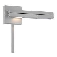 WAC Lighting Flip LED Right Swing Arm, Titanium