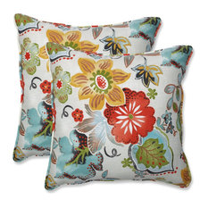 """Out/Indoor Alatriste 18.5"""" Throw Pillow, Set of 2, Ivory"""