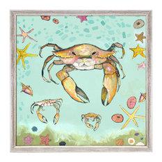 """Crabs Trio"" Mini Framed Canvas by Eli Halpin"
