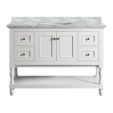 Cape Cod 48-inch White Bathroom Vanity Without Mirror