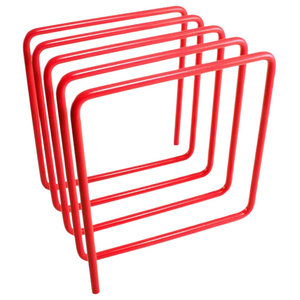 Block Magazine Rack, Red