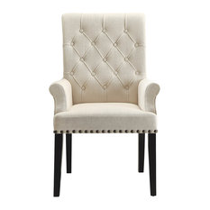 Coaster Parkins Upholstered Arm Chair in Rustic Espresso (Set of 2) 190163