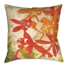 """Laural Home Exotic Foliage I Outdoor Decorative Pillow, 18""""x18"""""""