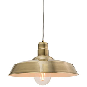 Moore Single Pendant, Antique Brass