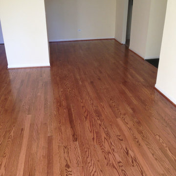 Red Oak Wood Floors with Early American Stain