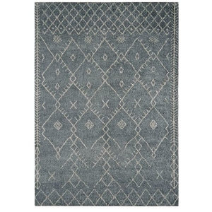 Amira Rectangular Traditional Rug, Grey, 200x300 cm