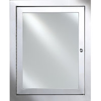 "Metro Stainless Steel Medicine Cabinet, Polished, 25""x31"""