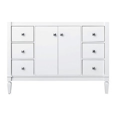 """Kayleigh Bath Vanity, White Cabinet Only, 47"""""""