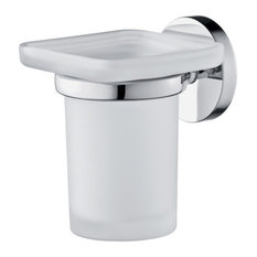 Clio Modern Toothbrush Holder With Wall Attachment