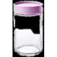 Transparent Glass Food Storage Tank Coffee Jar Airtight Containers