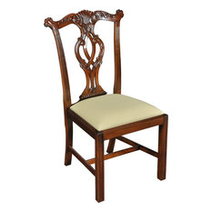 Side Chair Dining Chippendale Pair Solid