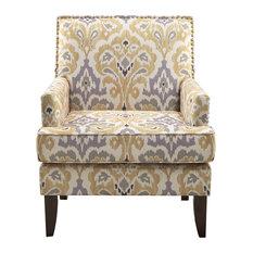 Madison Park Colton Track Arm Club Chair, Gray Multi