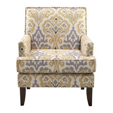 Madison Park Signature - Madison Park Colton Track Arm Club Chair, Gray Multi - Armchairs and Accent Chairs