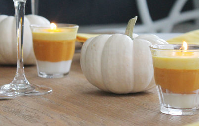 Houzz TV: Candy-Corn Candles for Halloween or Anytime