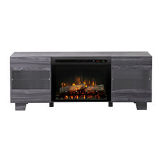 Max Media Console Electric Log Fireplace, Carbon