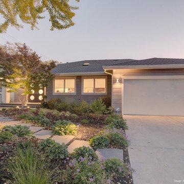 Open Living Area in a Palo Alto Bungalow