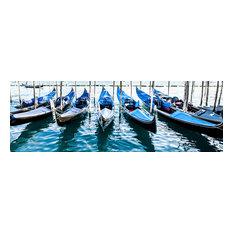 """Venetian Gondolas Panorama, 60""""x20"""""""