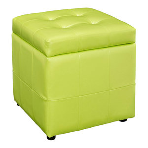Enjoyable Hawthorne Collections Square Faux Leather Storage Ottoman Evergreenethics Interior Chair Design Evergreenethicsorg