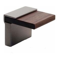 "Richelieu 59917195321 5/8"" cc Contemporary Cabinet Pull - Nickel/Walnut"