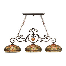 Dale Tiffany Briar Dragonfly 3-Light Island Fixture